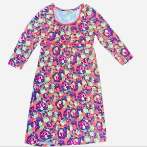 Boden Floral Spring Viscose Dress Sz 10